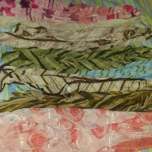 8 Miscellaneous Sheer Multi-Color Scarves